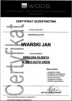 Szkolenie: obsługa klienta w sieci AUTO CREW