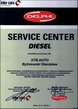 Certyfikat Delphi Service Center Diesel
