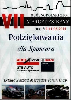 Sponsoring ogólnopolskiego zlotu Mercedes-Benz w Toruniu 2014
