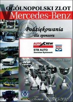 Sponsoring ogólnopolskiego zlotu Mercedes-Benz w Toruniu 2012