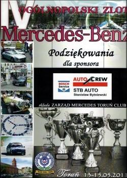 Sponsoring ogólnopolskiego zlotu Mercedes-Benz w Toruniu 2011