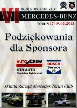 Sponsoring ogólnopolskiego zlotu Mercedes-Benz w Toruniu 2013